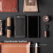 Elago S6 Outfit Genuine Leather Pocket Case for the iPhone 6, iPhone 6S (4.7inch) + HD Professional Screen Film included (black) 5