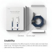 Elago Tangle-Free Lightning USB Cable - кабел за iPhone 6, iPhone 6S, iPad Air, iPad 5 (2017) и всеки Apple продукт с Lightning (бял-син) 6