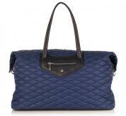 Knomo Huntley Weekender Bag - луксозна кожена чанта за мобилни устройства (тъмносин)