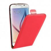 Leather Pocket Flip Case - вертикален кожен калъф с джоб за Samsung Galaxy S6 (червен)
