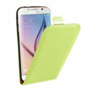 Leather Pocket Flip Case - вертикален кожен калъф с джоб за Samsung Galaxy S6 (зелен)
