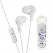 JVC HAFR6 Gumy Plus High Quality Headphones - слушалки с микрофон за смартфони и мобилни устройства (бял)