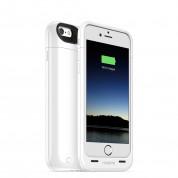 Mophie Juice Pack - удароустойчив кейс с вградена батерия 2600 mAh за iPhone 6 Plus, iPhone 6S Plus (бял) 1
