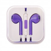 Earpods with remote and mic for iPhone, iPod, iPad (purple)