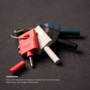 Elago Keyring Splitter for iPhone, iPad, iPod, Galaxy and any portable device with 3.5mm (red) 5