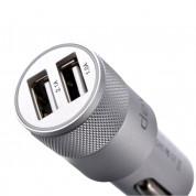 Devia Joy Dual USB Port Car Charger 3.1А - зарядно за кола (3.1 Ампера) с 2 USB изхода за смартфони и таблети (сребрист) 1