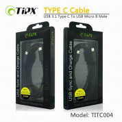 TIPX USB 3.1 Type C to USB Micro B Male 1