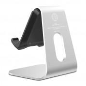Spigen S310 Mobile Stand - дизайнерска алуминиева поставка за мобилни телефони и таблети (сребрист) 2