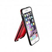 QDOS Portland Case - хибриден кейс с поставка за iPhone 6S, iPhone 6 (червен) 2
