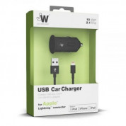 Just Wireless Lightning 2.1A USB Car Charger - зарядно за кола с USB изход и Lightning кабел за iPhone, iPad и устройства с Lightning порт (черен) 1