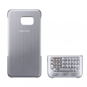 Samsung Keyboard Cover QWERTZ EJ-CG928M - поликарбонатов кейс и клавиатура за Samsung Galaxy S6 Edge Plus (сребрист)