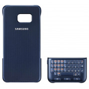 Samsung Keyboard Cover QWERTZ EJ-CG928M - поликарбонатов кейс и клавиатура за Samsung Galaxy S6 Edge Plus (черен)