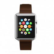 Incipio Premium Leather Watch Band - класическа кожена каишка за Apple Watch 38м, 40мм (кафяв) 2