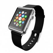Incipio Premium Leather Watch Band - класическа кожена каишка за Apple Watch 38мм, 40мм (черен) 3