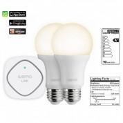 Belkin WeMo Lighting LED Starter-Set Wemo LINK + 2 LED Bulbs - система за безжично управляемо осветление за iOS и Android