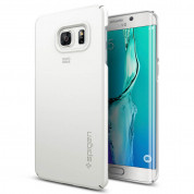 Spigen Thin Fit Case - качествен кейс за Samsung Galaxy S6 Edge Plus (бял)