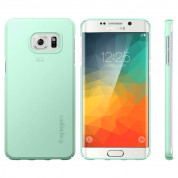 Spigen Thin Fit Case - качествен кейс за Samsung Galaxy S6 Edge Plus (син) 3