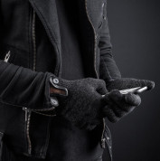 Mujjo Single Layered Touchscreen Gloves Size S - качествени зимни ръкавици за тъч екрани (черен) 7