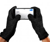 Mujjo Single Layered Touchscreen Gloves Size S - качествени зимни ръкавици за тъч екрани (черен) 2