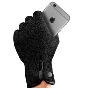 Mujjo Double Layered Touchscreen Gloves Size S - двуслойни качествени зимни ръкавици за тъч екрани (черен) 3