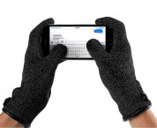 Mujjo Double Layered Touchscreen Gloves Size M (black) 2