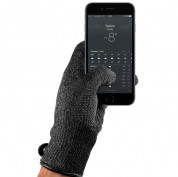 Mujjo Double Layered Touchscreen Gloves Size L (black)