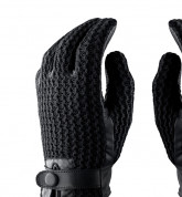 Mujjo Leather Crochet Touchscreen Gloves (9 size) 8