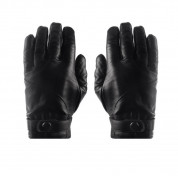 Mujjo Leather Touchscreen Gloves - луксозни кожени ръкавици за тъч екрани (размер 8.5) 1