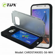 TIPX Cardstan Case - удароустойчив хибриден кейс за Samsung Galaxy S6 Edge Plus (бял) 1