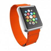 Incipio Stitch Jacquard Watch Band - класическа каишка за Apple Watch 38мм, 40мм (оранжев)