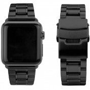 Caseual Steel Band - стоманена каишка с полирани елементи за Apple Watch 38мм, 40мм (черна)