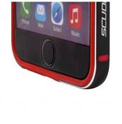 Ferrari Racing Bumper Aluminium - алуминиев бъмпер за iPhone 6S, iPhone 6 (черен-червен) 2