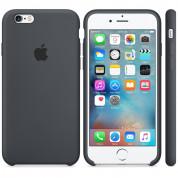 Apple Silicone Case - оригинален силиконов кейс за iPhone 6S, iPhone 6 (тъмносив) 3