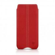 Beyzacases Zero - кожен калъф (естествена кожа, ръчна изработка) за Samsung Galaxy S6, S6 Edge (червен)