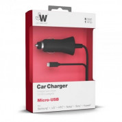 Just Wireless Corded microUSB Car Charger 1A 1