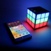 Rubiks Bluetooth LED Speaker - безжичен Bluetooth спийкър с LED визуализация за мобилни устройства 2