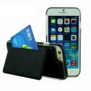 TIPX Ecoly Leather Case - кожен кейс с поставка и джоб за карта за iPhone 6S Plus, iPhone 6 Plus (черен)
