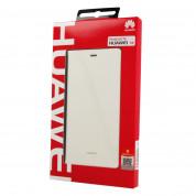 Huawei Flip Case - оригинален кожен калъф за Huawei P8 (бял) 1