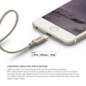 Elago Aluminum Lightning USB Cable - USB кабел за iPhone 6, iPhone 6 Plus, iPad, iPod и всеки Apple продукт с Lightning вход (златист) 1