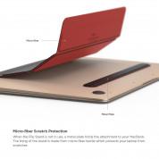 Elago Flip Stand - микрофибърна подложка и поставка за MacBook (черен-червен) 5