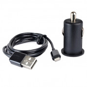 Symtek Car Charger 2.1A and MFI Lightning Cable - зарядно за кола 2.1A с USB изход и Lightning кабел за iPhone, iPad и iPod с Lightning порт (черен) 1