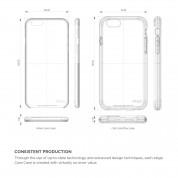 Elago Core Flex Case - хибриден кейс (полипропилен + TPU) и HD покритие за iPhone 6S, iPhone 6 (черен) 7