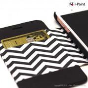iPaint Waves Folio Case - текстилен калъф, тип портфейл и поставка за iPhone 6S, iPhone 6 3