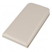 Leather Pocket Flip Case - вертикален кожен калъф с джоб за Samsung Galaxy A7 (2016) (бял) 2