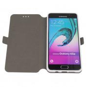 Wallet Flip Case - кожен калъф, тип портфейл и поставка за Samsung Galaxy A7 (2016) (бял) 8