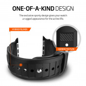 Spigen Rugged Band - хибридна (полимер+карбон) каишка за Apple Watch 42мм, 44мм (черен) 1