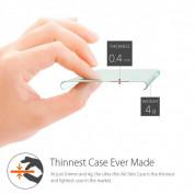 Spigen AirSkin Case - качествен ултратънък (0.4 mm) кейс за iPhone 6 (прозрачен-мат) 3