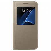 Samsung S-View Cover EF-CG930PFEGWW for Samsung Galaxy S7 (gold)