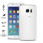 Puro Ultra-Slim silicone case - ултра-тънък (0.30 mm) силиконов кейс и защитно покритие за дисплея за Samsung Galaxy S7 (прозрачен)