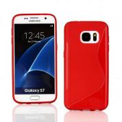 S-Line Cover Case - силиконов (TPU) калъф за Samsung Galaxy S7 (червен)